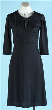 Sale 9090F - Lot 179 - A SABA 3/4 SLEEVE DRESS; in black with faux collar and belt, size 8