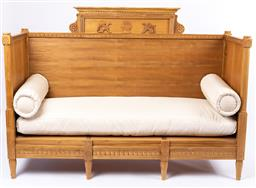 Sale 9135H - Lot 167 - A Swedish mid century style teak day bed, cushions Included. 64cm Depth, 1.8M Width, 1.3M Height