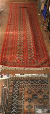 Sale 7670A - Lot 615 - Red Persian hand knotted hall runner together with a brown one
