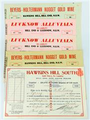 Sale 8214 - Lot 7 - Hill End Gold Mining Shares