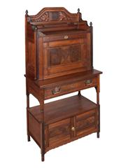 Sale 8379A - Lot 6 - An Edwardian walnut Secretaire on Stand  English circa 1900  H: 138cm W: 71cm D: 38cm