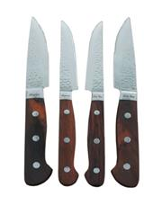 Sale 8648X - Lot 51 - Laguiole Louis Thiers Red Wood Handled 4-Piece Steak Knife Set