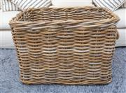 Sale 8471H - Lot 80 - A large wicker basket, W 60cm, and others