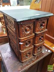 Sale 8495F - Lot 1064 - Set of Oak Sewing Table Drawers