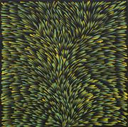 Sale 8743 - Lot 593 - Gloria Petyarre (c1945 - ) - Bush Medicine Leaves 60 x 60cm (stretched and ready to hang)