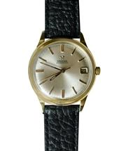 Sale 8888H - Lot 47 - Vintage mens Omega automatic movement in gold filled case, 34 mm. Crown sometimes sticking but running fine