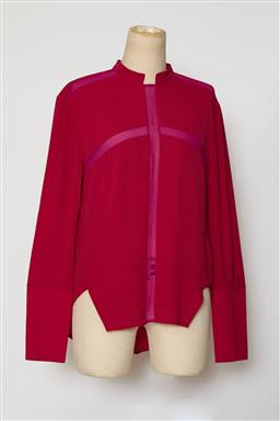 Sale 9095F - Lot 66 - A Line 11 by Dion Lee bright pink silk long sleeved top, size 8.