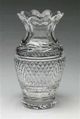 Sale 9192 - Lot 97 - A Waterford Cut Crystal Vase (H:22.5cm)