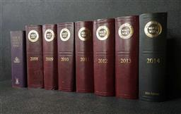 Sale 9208 - Lot 2035 - 8 Volumes of Whos Who in Australia 1992, 2008-2014