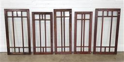 Sale 9255 - Lot 1388 - Collection of timber window frames (largest 151 x w:63cm)