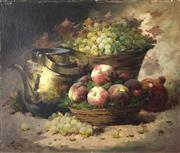 Sale 8224A - Lot 31 - C19th French School - Still Life - Kitchen canvas size: 46 x 55 cm