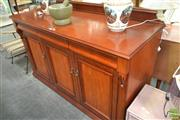 Sale 8257 - Lot 1060 - Timber Sideboard with three drawers and doors