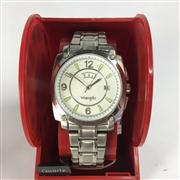 Sale 8283B - Lot 82 - A WRANGLER QUARTZ WRISTWATCH, with day and date aperture, new in display box, needs battery.