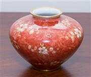 Sale 8308A - Lot 45 - Handpainted Rosenthal porcelain vase in Imari red and gilt. D: 12cm