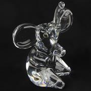 Sale 8399 - Lot 22 - Daum Crystal Elephant Figure