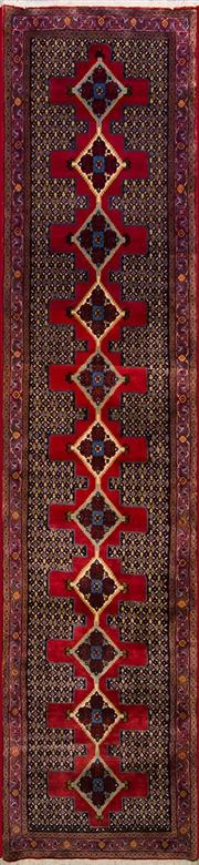 Sale 8447C - Lot 92 - Persian Bidjar 405cm x 95cm