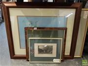 Sale 8474 - Lot 2056 - Group of (5) Assorted Framed Prints, Photographs and a Lithograph
