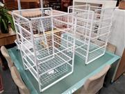 Sale 8777 - Lot 1095 - Pair of Metal Four Drawer Stands