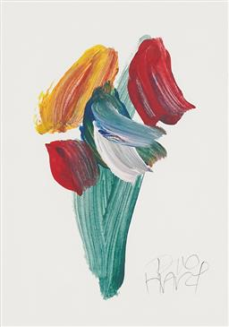 Sale 9141A - Lot 5031 - KEVIN CHARLES (PRO) HART1928 - 2006) Orchid Flower oil on paper 28 x 20 cm (frame: 52 x 43 x 2 cm) signed lower right