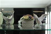 Sale 7989 - Lot 25 - Pair of Lladro Geese and Royal Albert Floral Musical Ornament