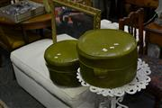Sale 8035 - Lot 1085 - Pair of Leather Ottomans