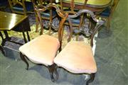 Sale 8093 - Lot 1837 - Pair of Heavilly Carved Chairs on Cabriole Legs