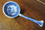 Sale 8298 - Lot 93 - .An antique English willow pattern ladle, L: 19cm