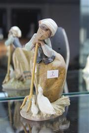 Sale 8322 - Lot 7 - Lladro Figure of a Farming Girl