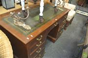 Sale 8331 - Lot 1359 - Twin Pedestal Leather Top Desk
