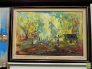 Sale 8407T - Lot 2005 - Framed Oil on Board Signed Lower Left N.Frith