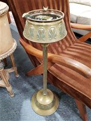 Sale 8688 - Lot 1051 - Brass and Glass Ashtray on Stand