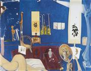 Sale 9078A - Lot 5023 - Brett Whiteley (1939 - 1992) - Self Portrait in the Studio 48 x 61.5 cm (frame: 83 x 98 x 3 cm)