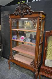 Sale 8134 - Lot 1017 - Antique Carved Mahogany Display Cabinet on Later Claw Feet