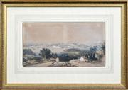 Sale 8259 - Lot 586 - Conrad Martens (1801 - 1878) - Sydney From the North Shore, 1842 27.5 x 50cm