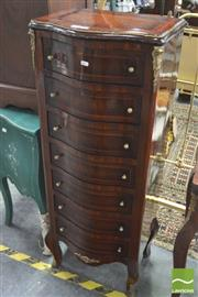 Sale 8418 - Lot 1093 - Reproduction Raised 7 Drawer Slim Chest