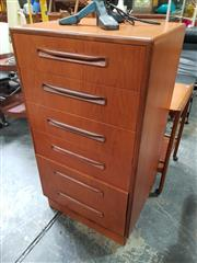 Sale 8741 - Lot 1064 - G Plan Teak 6 Drawer Tallboy