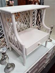 Sale 8934 - Lot 1085 - Painted Cane Bedside with Single Drawer