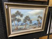 Sale 8978 - Lot 2038 - Theresa Kennedy Australian Gums oil on board, 55 x 76cm (frame), signed lower right
