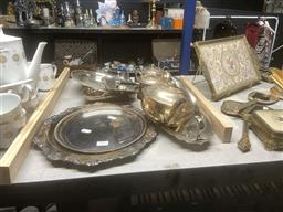 Sale 9106 - Lot 2420 - Collection of silverplated wares  inc teapot