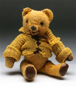 Sale 9144 - Lot 162 - A Rare Vintage Mohair Teddy Bear, with moving mouth and growling mechanism (not working), probably by Tara Toys Ireland
