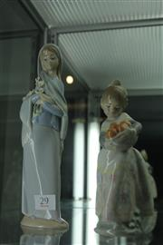 Sale 7989 - Lot 29 - 2 Lladro Figures (chip on one)