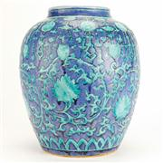 Sale 8258 - Lot 67 - Wanli Style Fahua Enamel Blue & Green Jar
