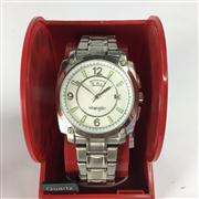Sale 8283B - Lot 85 - A WRANGLER QUARTZ WRISTWATCH, with day and date aperture, new in display box, needs battery.