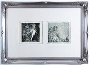 Sale 8338A - Lot 101 - A pair of framed Norman Lindsay monophoto lithograph, She Arrives, 146/200 plate number 186, & Walpurgis, 146/200, 22 x 22cm