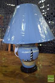 Sale 8532 - Lot 1261 - Pair of Belgium Table Lamps with Lighthouse Motif (3411)