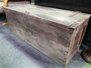Sale 8550 - Lot 1210 - Rustic Timber Crate with hinged lid
