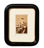 Sale 8653A - Lot 4 - A photographic portrait of Sir Childers by Alex Bassano, London, together with a small portrait of an academic, signed lower right, ...