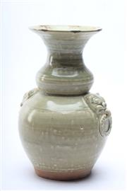 Sale 8681 - Lot 91 - Celadon Chinese Vase With Lion Handled