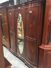 Sale 8740 - Lot 1528 - Mahogany Inlaid Wardrobe