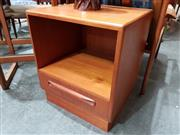 Sale 8782 - Lot 1039 - Pair G Plan Bedside Lockers with Single Drawer and Open Face